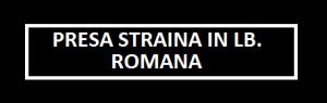 PRESA STRAINA IN LB. ROMANA